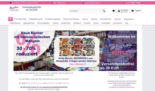 Online Shop für neue günstige Bücher